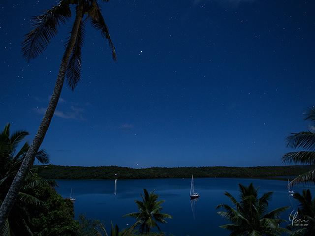 トンガ ババウ島 星空