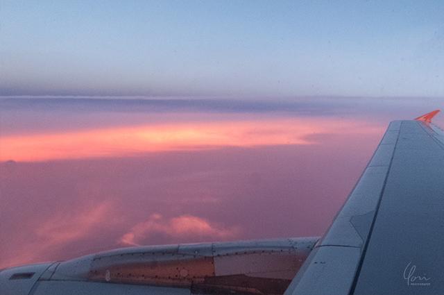 タスマニアの空からの夕焼け Sunset from sky