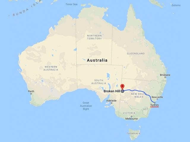 オーストラリア地図 ブロークンヒル Australian map Brokenhill