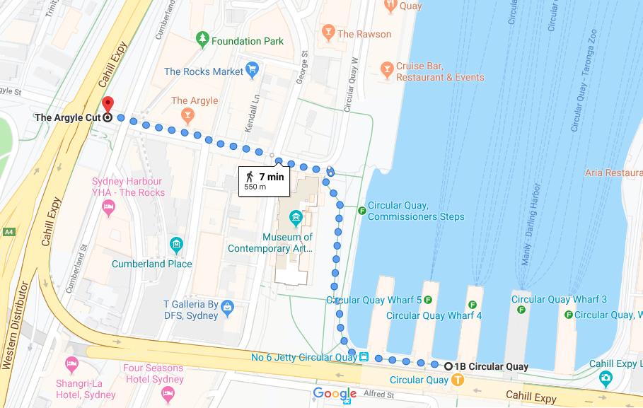 アーガイルストリート 地図 Argyle street map