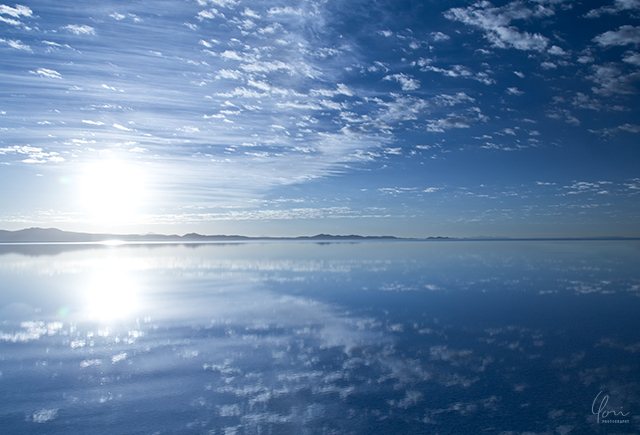 ウユニ塩湖の朝 Uyuni salt flats morning