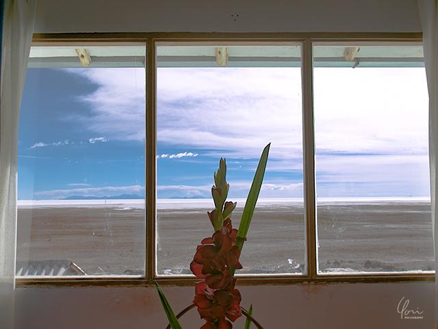 ルナサラダ 窓越しのウユニ塩湖