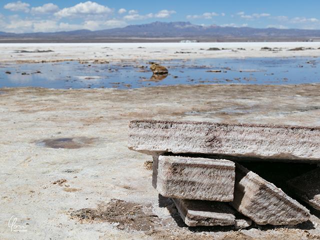 ウユニ塩湖 塩ブロック
