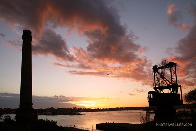 シドニー 世界遺産 コカトゥー島 サンセット