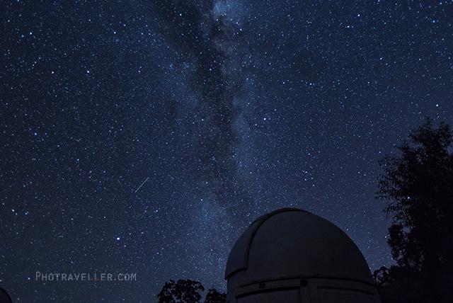 マッジー天文台 ドーム 流れ星