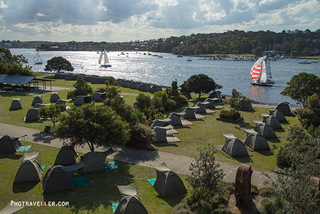 シドニー 世界遺産 コカトゥー島 キャンプ場