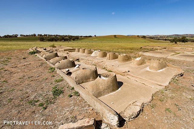 カウラ 捕虜収容所跡 トイレ