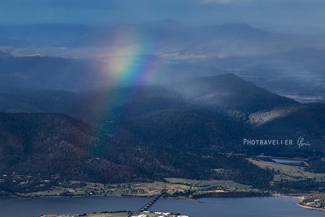 タスマニア ウェリントン山 虹
