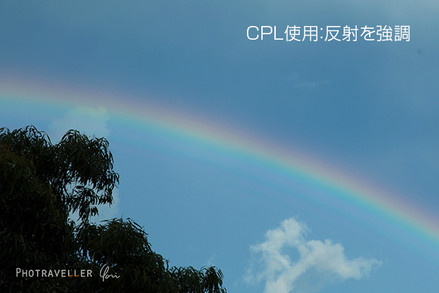 虹 CPL使用 正しい位置