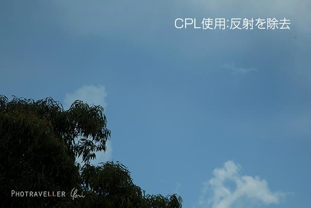 虹 CPL使用 正しくない位置