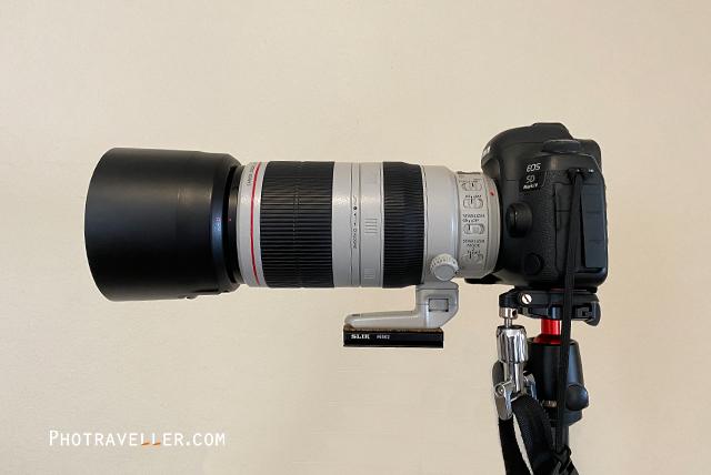 400mm アルカスイス カメラに固定