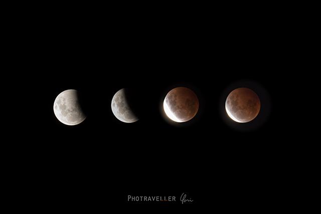 皆既月食 スタートからピーク