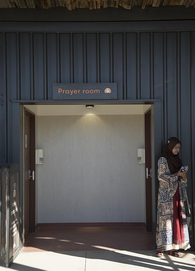 さすが多民族国家。園内には「Prayer room」という礼拝の為の部屋が用意されています。例えばイスラム教徒は、1日5回の礼拝を行うそうなので、園内にこのような設備があるあるのは安心ですね
